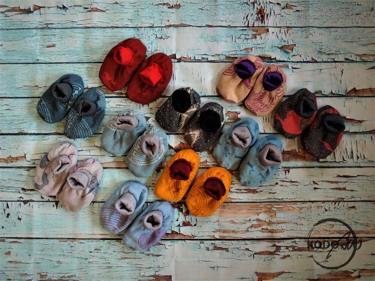 Vatanai wrap scrap baby boties made by Kodoba #Vatanai #Kodoba #wrapscrap #booties