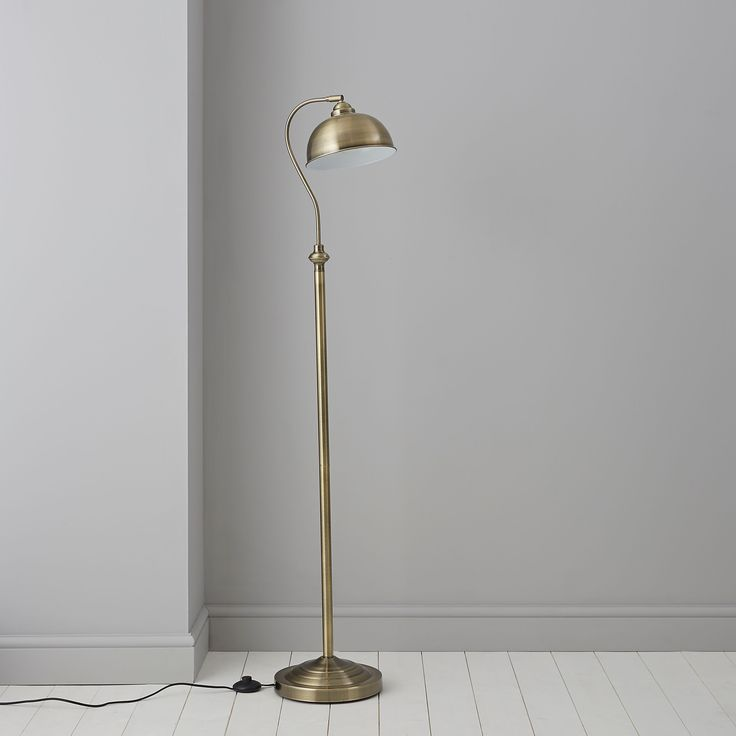 Carswell Gold Floor Lamp | Departments | DIY at B&Q