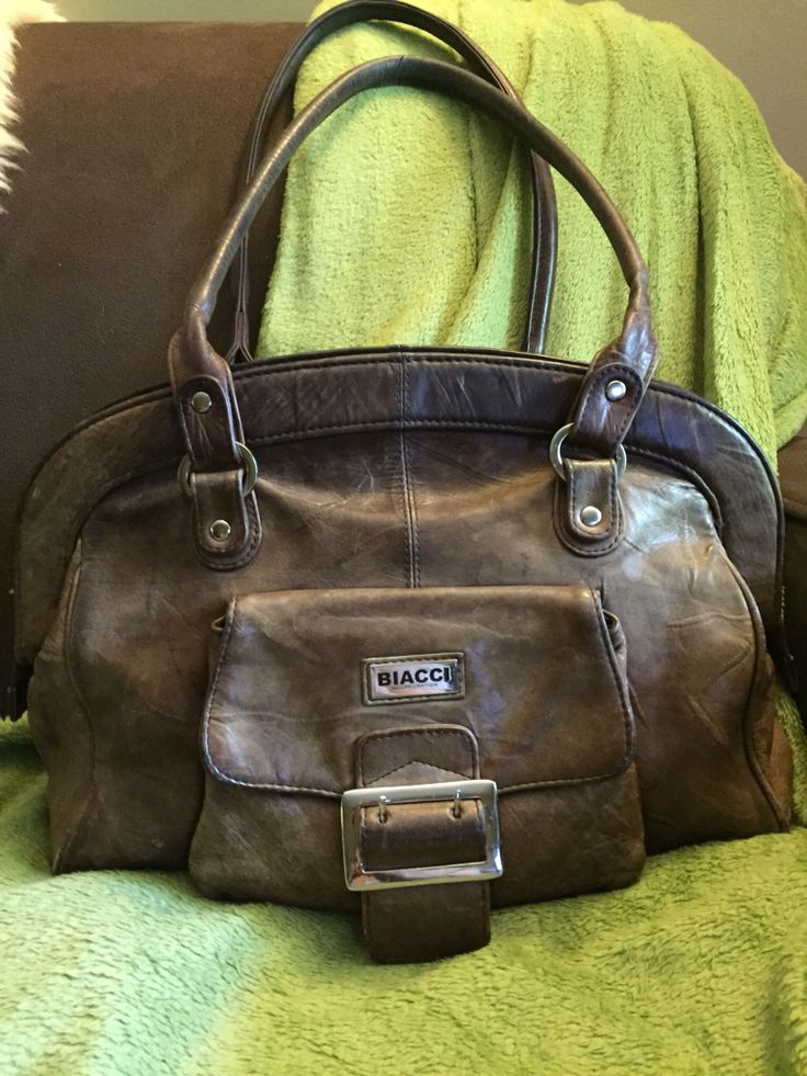 Biacci Distressed Leather Shoulder Bag (Found at Value Village/Waterloo in GUC for $9.99 - 30% = $6.99)