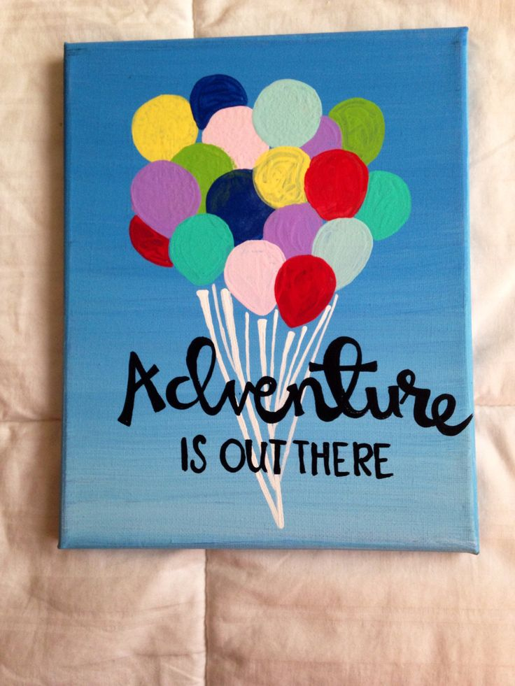 Canvas quote adventure is out there disney pixar 39 s by kismetcanvas room pinterest - Exterior painting quotes set ...