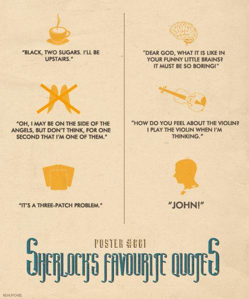 Sherlocks Favorite Quotes