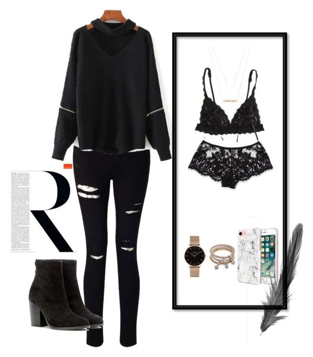 """""""Untitled #16"""" by maria-raniela on Polyvore featuring Miss Selfridge, Hanky Panky, I.D. SARRIERI, Michael Kors, CLUSE, WithChic, Rebecca Minkoff, rag & bone, Ultimate and Winter"""