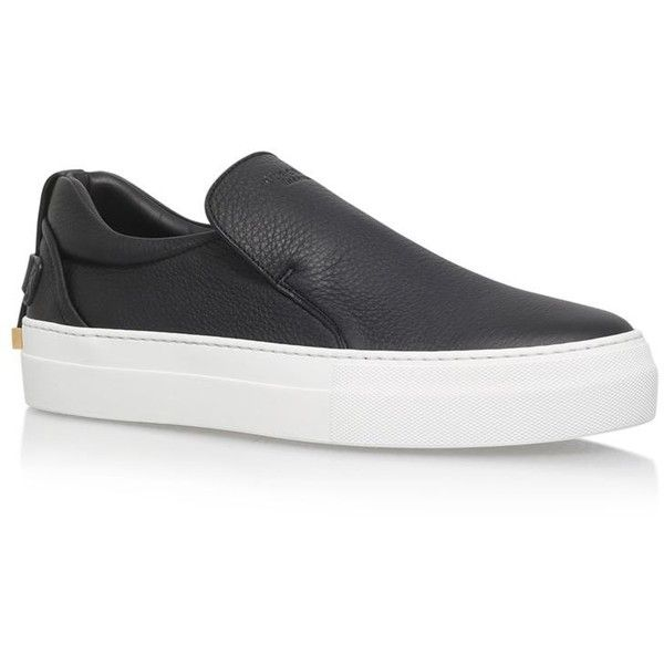 Buscemi 40mm Skate Slip-On Sneakers (2,360 MYR) ❤ liked on Polyvore featuring men's fashion, men's shoes, men's sneakers, mens slip on shoes, mens slip on sneakers and mens slipon shoes