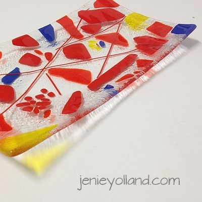 """Scarlet yellow and a touch of cobalt - """"Hot Autumn Night"""" by jenie yolland.  Available in every size."""