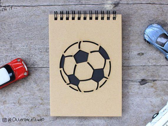 Soccer Football Notebook  Sport Spiral Notepad  Ball