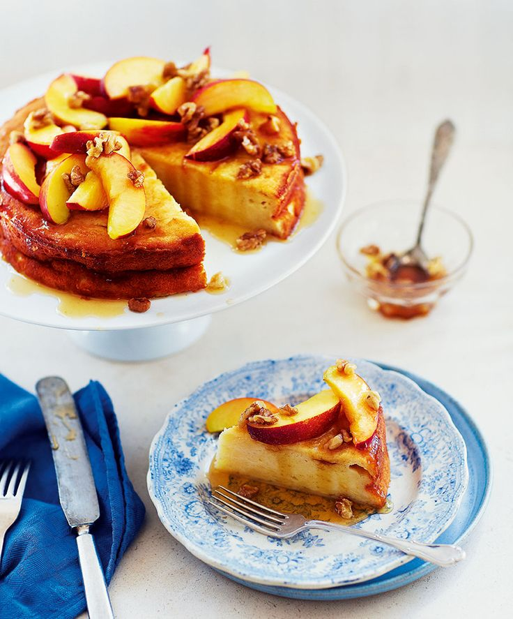 This summery torte recipe tastes wonderful with nectarines but peaches or apricots work just as well.