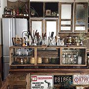 Kitchen/DIY/ディスプレイ/アメリカン/アメリカンビンテージ/リノベーション...などのインテリア実例 - 2016-03-22 09:07:07|RoomClip (ルームクリップ)