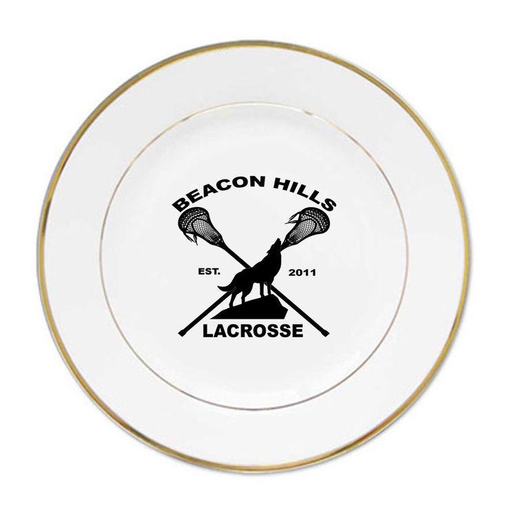 Beacon Hills Lacrosse porcelain plates #Handmade