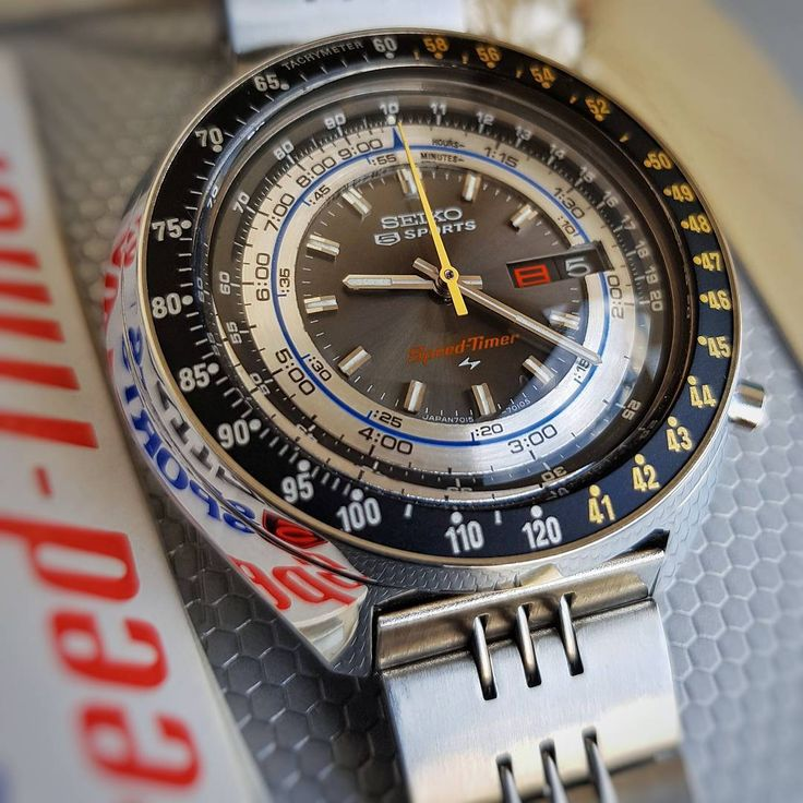 Vintage Seiko 7015-7010 - Chronograph Automatic - Flyback - 5 Sports Speed-Timer - from 1972.