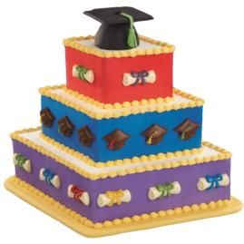 The Best and Brightest Cake - Three diamond-shaped tiers topped by a