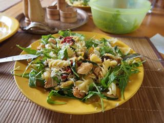 RUN EAT AND TRAVEL: Těstoviny s krůtím masem, cuketou a sušenými rajčaty