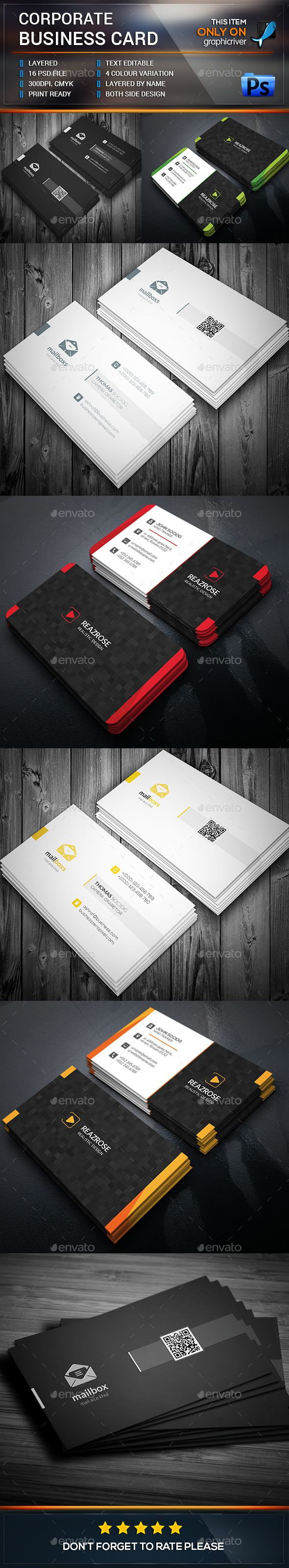 38 best amazing business card designs images on pinterest card corporate business card bundle templates psd design download httpgraphicriver magicingreecefo Image collections