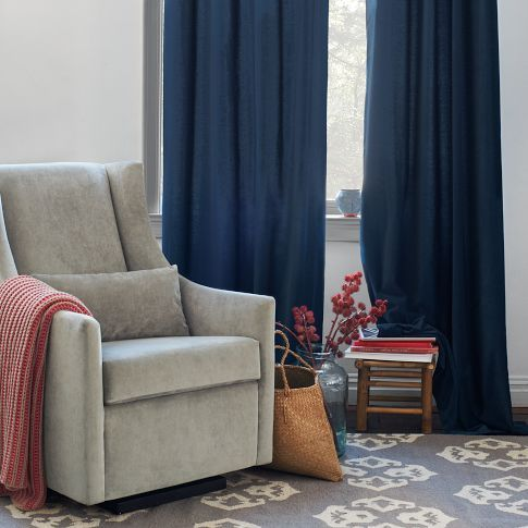 love the regal blue drapes with grey and red accents home style pinterest grey walls. Black Bedroom Furniture Sets. Home Design Ideas