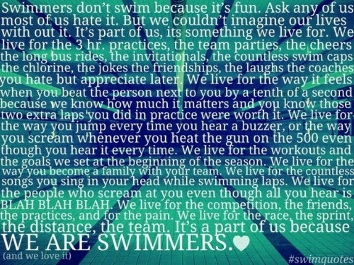 Swim Team Quotes Inspirational | Quote