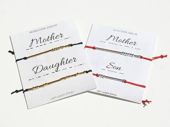 Mother Daughter Morse Code Bracelet Mother Daughter Bracelet #morsecodebracelet #motherdaughter #giftformom#etsy #fromdaughter #momanddaughter #braceletfor2 #mothersdaygift #mothersday