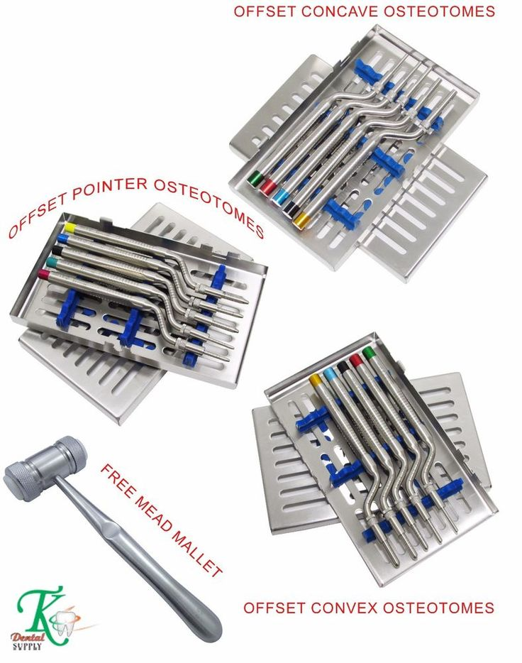 Assortment of Dental Sinus Osteotomes Convex,Concave & Pointer Tips Osteotome CE #tkplus