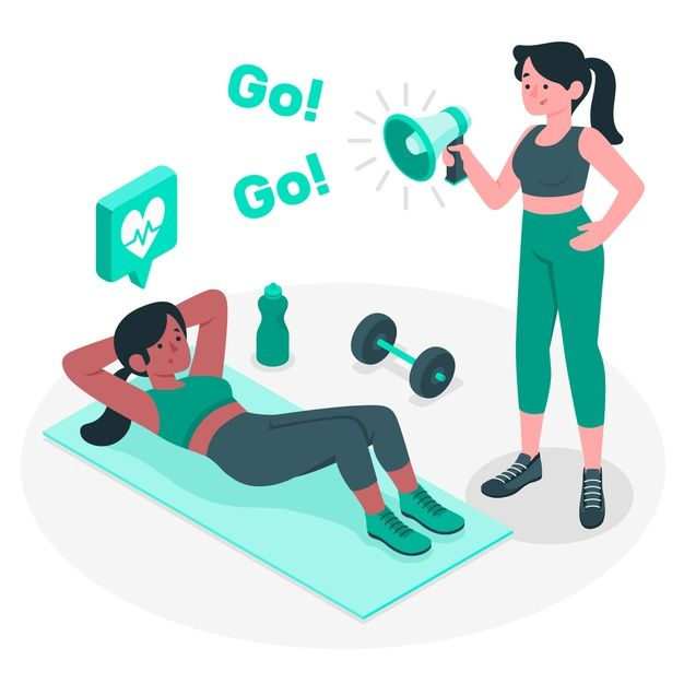 Download Personal Trainer Concept Illustration For Free Personal Trainer Fitness Art Fitness Design