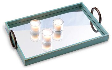 Drake Mirror Tray transitional-serving-trays