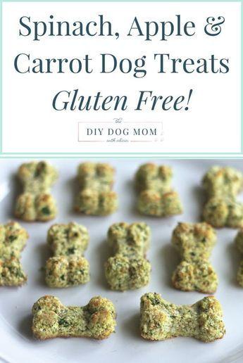 DIY dog treats | Spinach, Apple & Carrot Homemade Dog Treats | grain free dog treats |