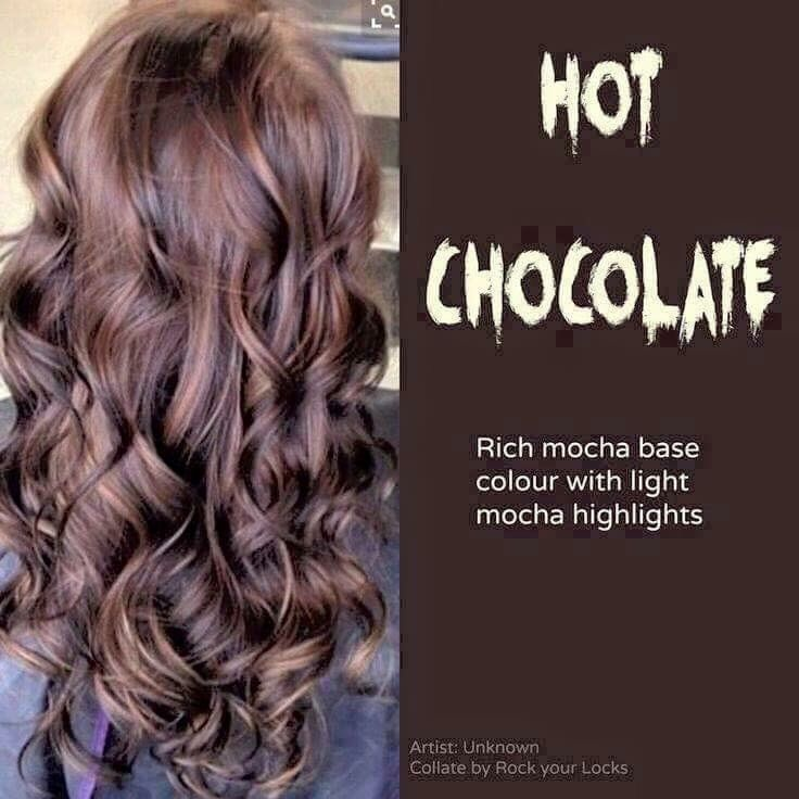 54 Hair Color Inspirations And How To Get Them Hair Styles Hair Color Chocolate Hot Chocolate Hair Color