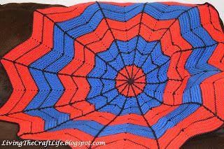 spiderman blanket, free pattern!