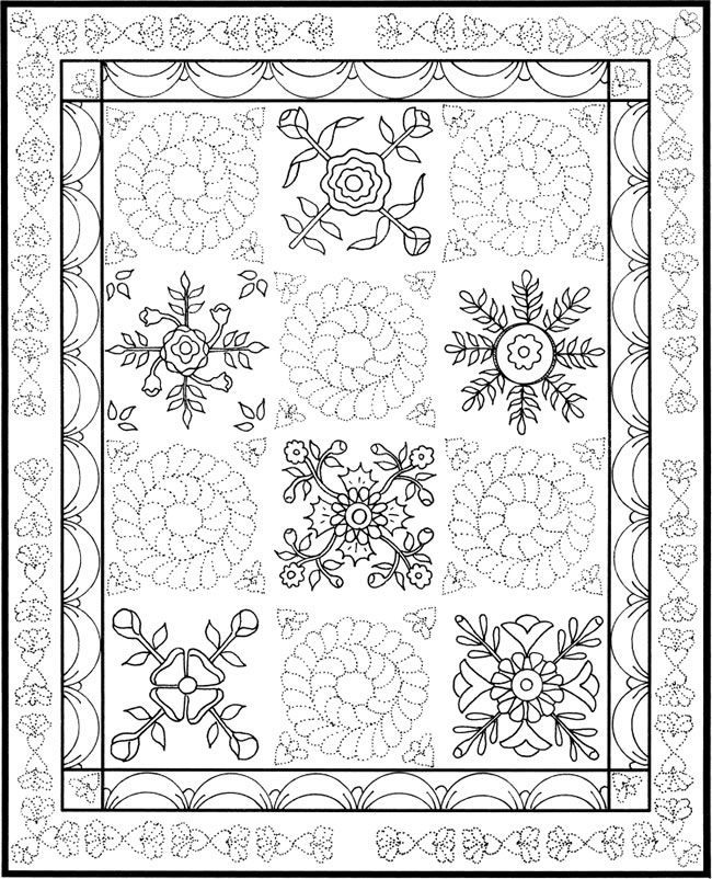 Patchwork Quilt Designs Coloring Book