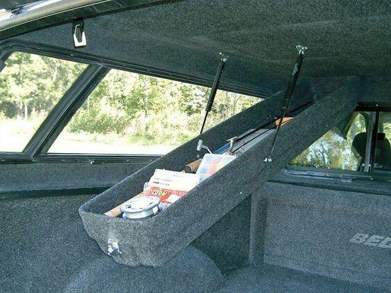 Camper storage: gun & rod box