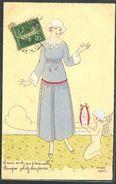HM103 a/s MAGGY MONIER ART DECO FASHION LADY CUPID ANGEL FEMME MODE ANGELOT  | En vente sur Delcampe
