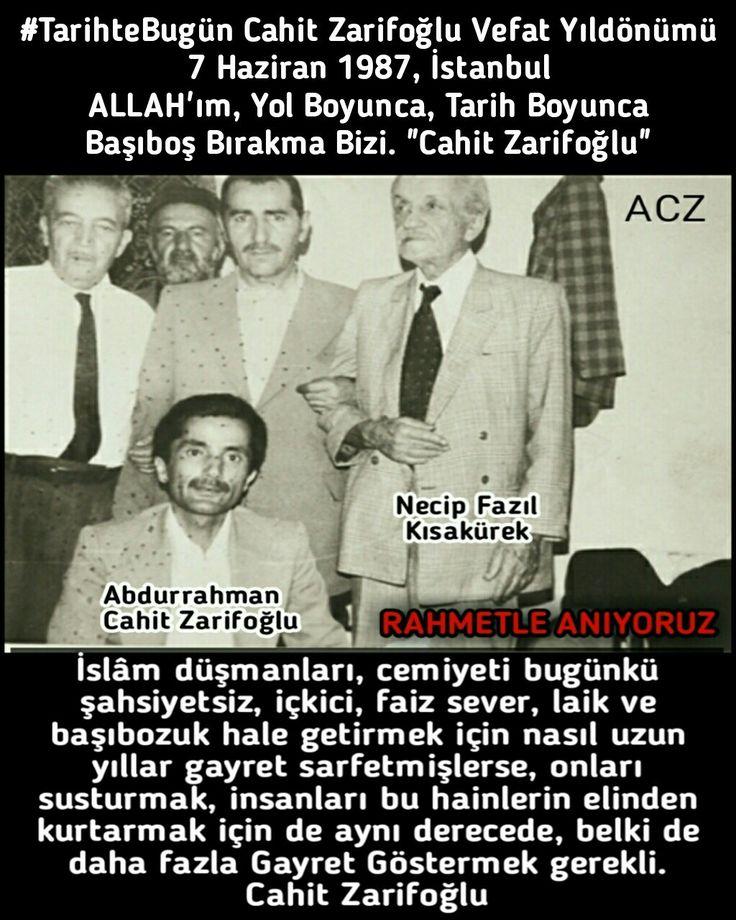 http://www.sarpertr.com/post/6996_tarihtebugün-cahitzarifoğlu-vefat-yıldönümü-7-haziran-1987-istanbul-yalan-yazan.html #TarihteBugün #CahitZarifoğlu #Şair #Ozan #NecipFazılKısakürek #ottoman_1453_2023 #osmanlı_1453_2023 #sarpertr #yasir_palestine #şiir #ozan #islam #mücahid #din #tarih #öğretmen #yazar #edebiyat