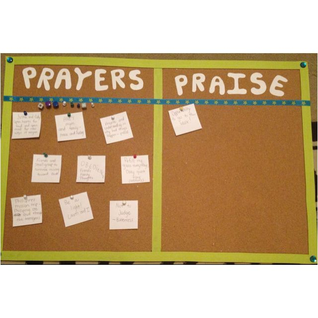 Prayer and praise board. So going to do this for my house. Love how simple it is!!