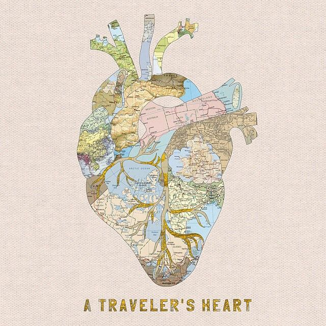 """A Traveler's Heart"" by @biancagreenart on #Society6"