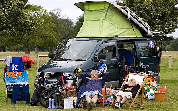 How do you entertain an eight-year-old boy during the school holidays? Buy a   Mazda Bongo camper van, of course.