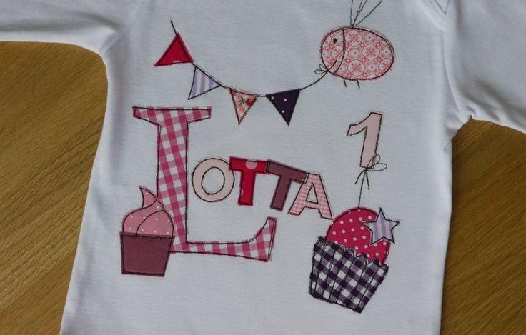 """Langarmshirts - Geburtstagsshirt """"Leckerei"""" - ein Designerstück von tinybutton bei DaWanda"""