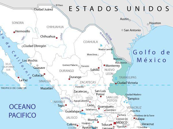 Mapa de Tamaulipas  Tamaulipas  Pinterest