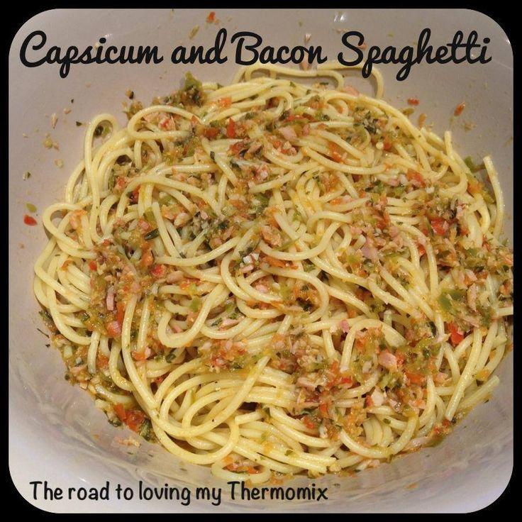 Capsicum and Bacon Spaghetti