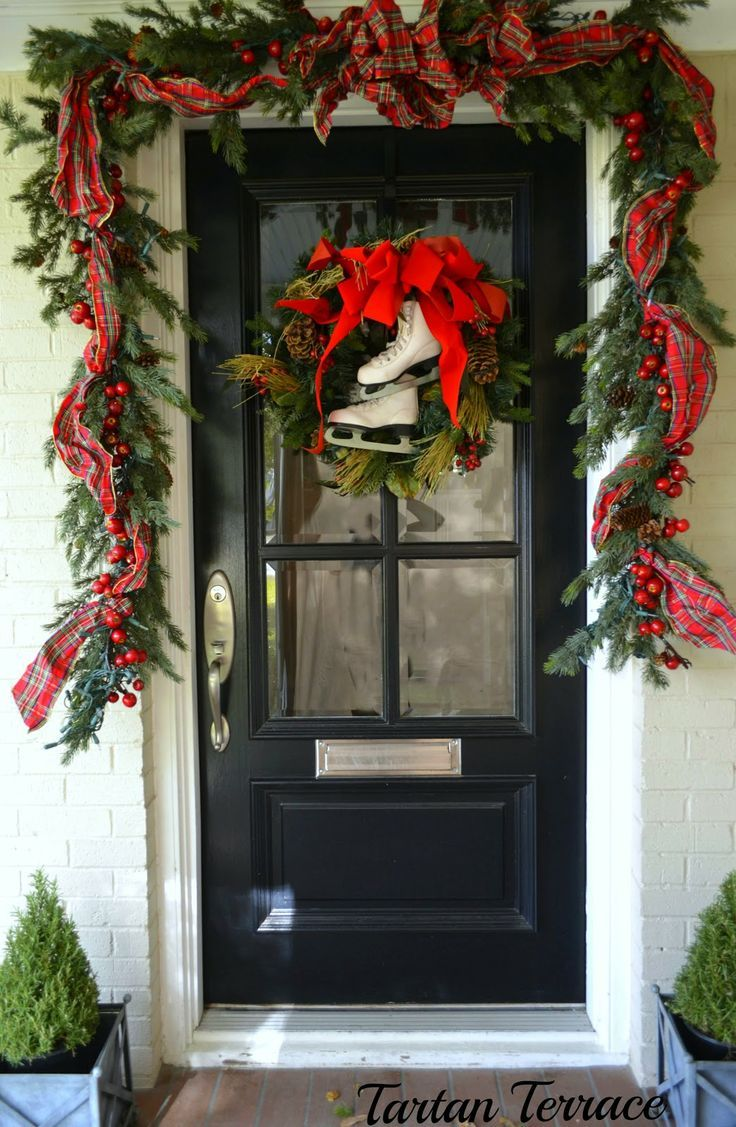 78 best christmas decorations outdoor images on pinterest front door decorations christmas decorations outdoor shermanfinancialgroup