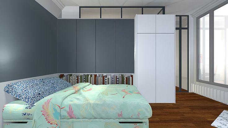 changer cr ation d 39 une chambre esquisses sketches plans palettes de couleurs. Black Bedroom Furniture Sets. Home Design Ideas