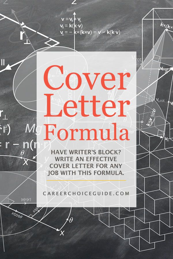 Cover Letter Writing Formula Beat writeru0027s block