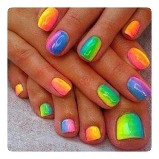 colorful nails so fun would love that for summer.