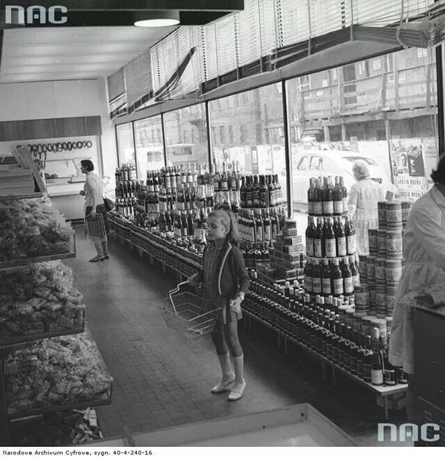 Grocery store in the Polish People's Republic (PRL), 1970