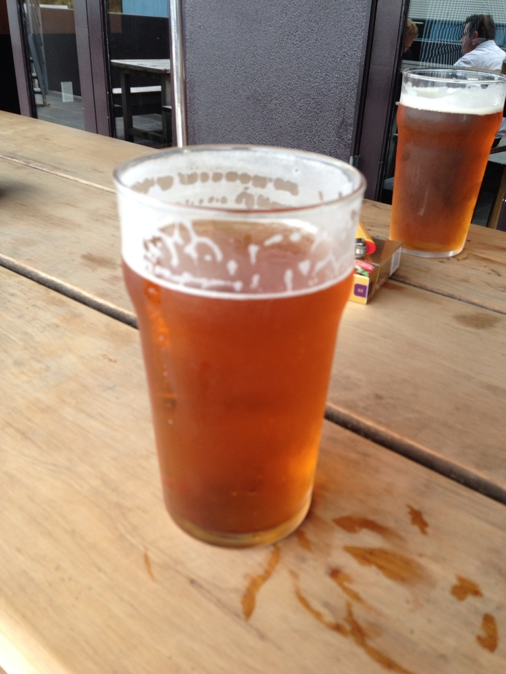 Pint of Speight's; consumed at none other than the Speight's Ale House in Dunedin.