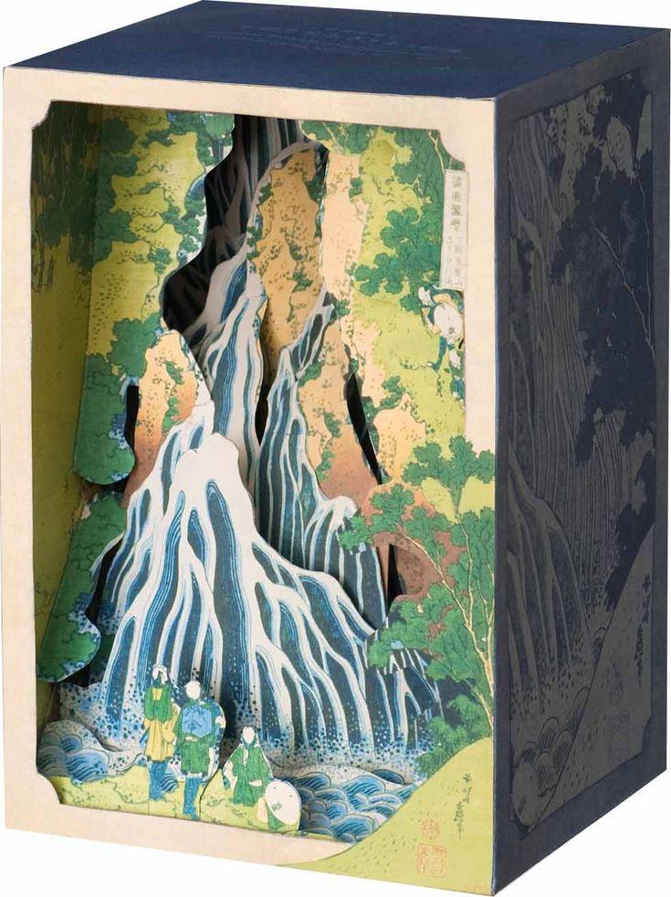 立版古|tatebanko 北斎・諸国瀧廻り「下野黒髪山きりふりの滝」