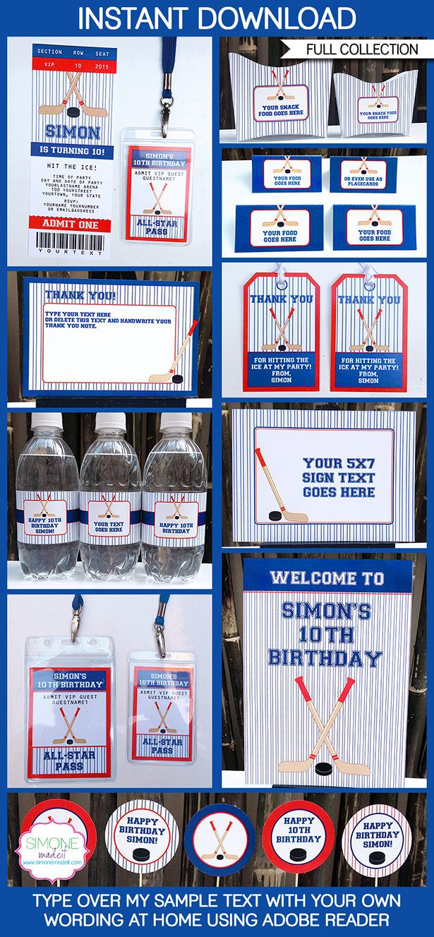 best kids party ideas hockey images on pinterest
