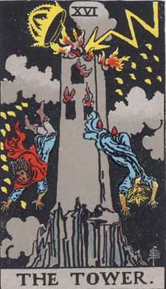 TOWER CARD ELEVEN IN TAROT 1909 YEAR