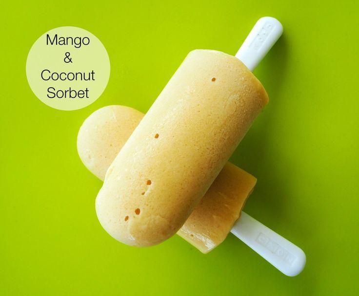 Thermomix Mango and Coconut Sorbet  #thermomix #recipe #vegan