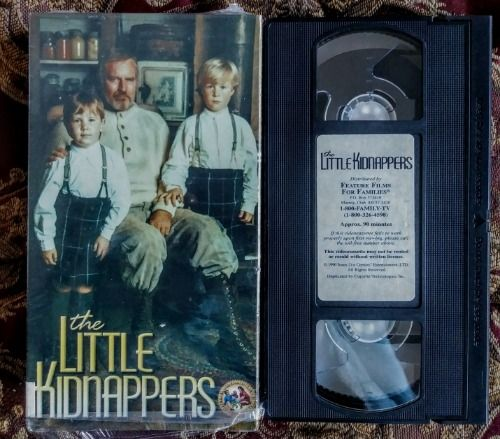 The Little Kidnappers on VHS. Pre Owned. Still in shrinkwrap. Tested. Plays great. Starring Charleton   Heston. 1990 Jones 21st Entertainment Feature Films For Families. $4.99. Cassette and Vudeo Corner