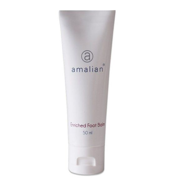 amalian® Enriched Foot Balm uses a rich concentration of Urea and Organic Coriander Oil to calm, revitalize and regenerate extremely dry skin. Can also be used to sanitize small injuries on the feet.
