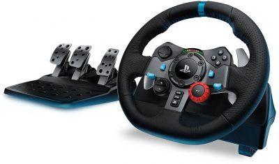Logitech G29 volante simulación (PS4, PS3 y PC) con pedales por 209 € G29 Driving Force es el #volante de simulación de carreras definitivo para los juegos de #PlayStation 4, PlayStation 3 y PC más recientes. Incluye Force Feedback con dos motores y engranajes helicoidales para una conducción silenciosa y fluida. #consolas #videojuegos #chollos #ofertas #regalos