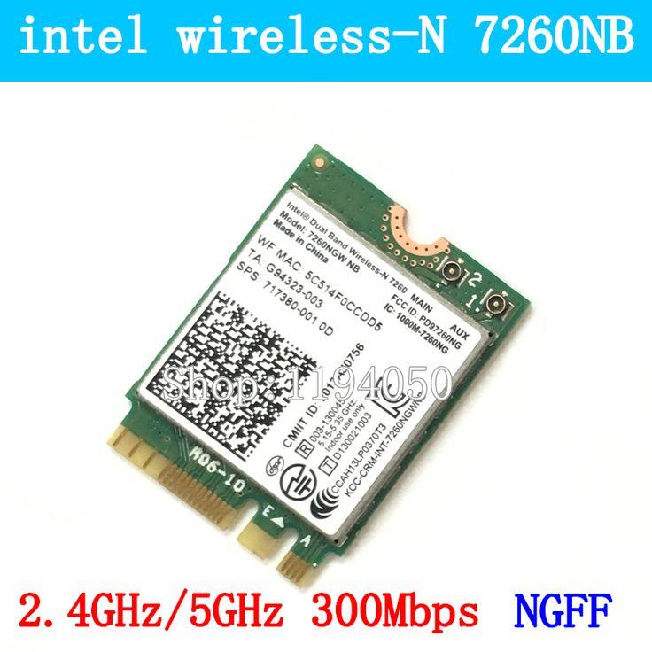 intel 2.4G/5G Dual Band Wireless-N 7260 7260NGW NB NGFF PCIe WLAN WIFI Card Device Modul 300M WIFI CARD //Price: $13.03 & FREE Shipping //     #hashtag1