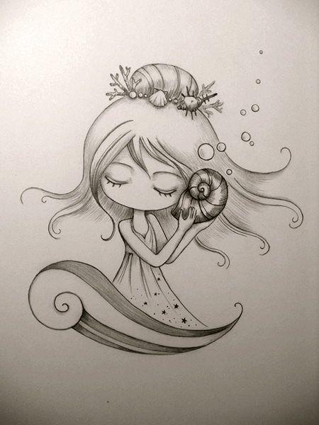 Mooi meisje met schelp